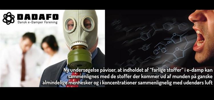 Indholdsstoffer i damp og almindelig ånde er identiske