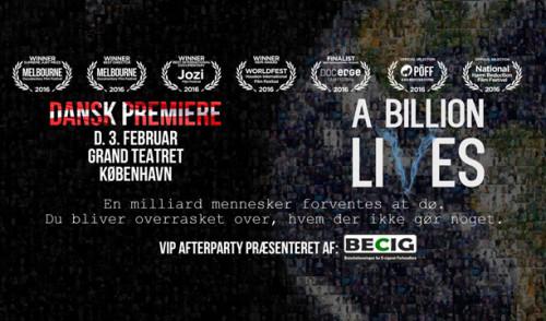 A Billion Lives – nu i Danmark!