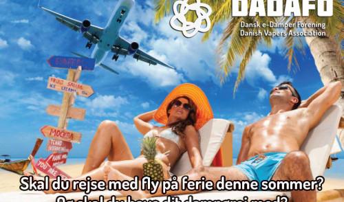 Fly-rejser og e-damp – sikkerhedskontrol og opdateret vejledning