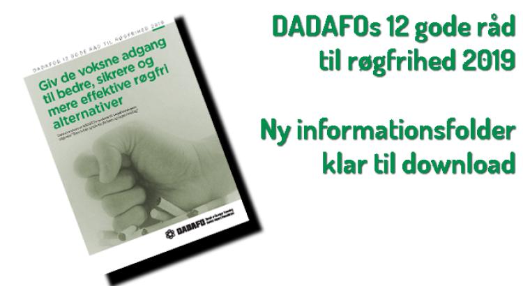 DADAFOs 12 gode råd til røgfrihed 2019