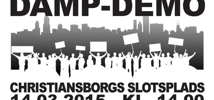 Damp-Demo på Christiansborgs Slotsplads – 14.03.2015 – kl. 14.00